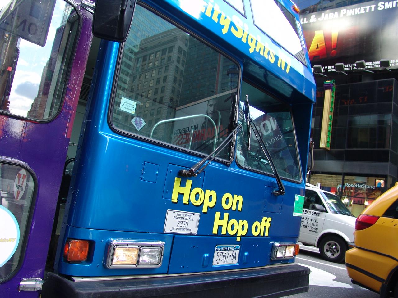 Boek vanuit huis een New York hop on hop of route